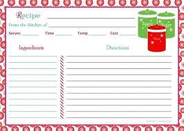Free Recipes Templates Cookbooks Recipe Template Download