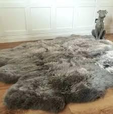 ikea grey sheepskin rug large sheepskin rug luxury grey vole sheepskin rug large faux sheepskin rug