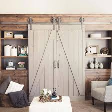 Double Shed Door Design Alluring Dual Barn Doors Engaging Decorating Double Sliding