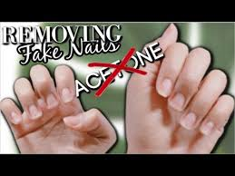 how to remove fake nails without