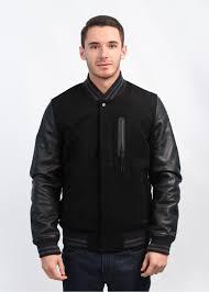 destroyer varsity jacket black black