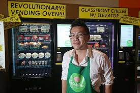 Vending Machine Franchise Singapore Cool Vending Machine 'cafe' Opens In Heartland Singapore News Top