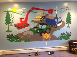 under construction paint by number wall mural design of fisher wall stickers