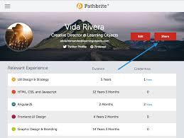 Portfolio For Resume Mesmerizing Sharing Resume Pathbrite User Guide 48