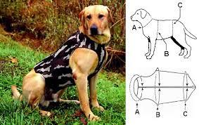 Neoprene Dog Vest Size Chart Camouflage Neoprene Dog Vest