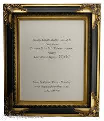 wide profile 4 100mm antique gold black shabby chic ornate swept vintage picture frame for