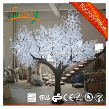 Fake Cherry Blossom Tree With Lights Wedding Decorations White Artificial Nature Led Cherry