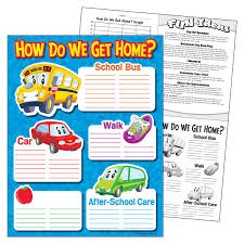 How We Get Home Chart Learning Chart How Do We Get Home T 38271