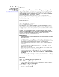 Hospital Pharmacist Resume Objective Sidemcicek Com