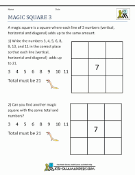 Magic Squares Math Worksheets Addition Puzzlerd Grade Free Puzzles ...