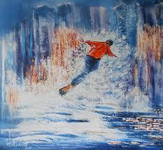 artwork canvas snowboard wall art