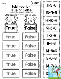 7 diffe ways to master addition and subtraction math facts including this true or false first grade