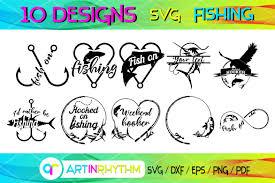 Fishing Bundle Fishing Svg Cut File Graphic By Artinrhythm Creative Fabrica