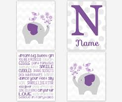 baby girls canvas nursery wall art purple lavender gray grey dream purple wall art nursery