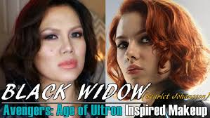 stunning black widow avengers age of ultron inspired makeup scarlett pic hair color trends and ideas