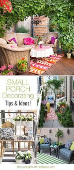 small porch decorating