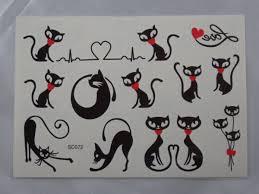 Střední Tetování Kočka