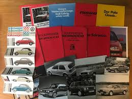 Original Vw Catalogues Beatle Colour Chart Scirocco 18 X