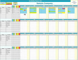 employee availability template excel employee vacation planner template excel full time and part time