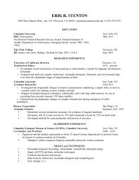 Cover Letter Resume For Graduate School Template Resume For