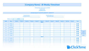 Excel Employee Time Sheet Free Timesheet Template Printable Timesheets Clicktime