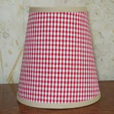 classic red gingham small handmade candle clip lampshade for wall lights chandeliers
