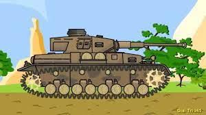 Ô tô hoạt hình xe tăng chiến đấu bắn nhau trên đường