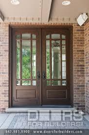 glass double front door. Wooden Door With Beveled Glass And Prairie Grills Custom Wood Beautiful Double Front Doors R