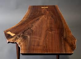 walnut live edge slab petite coffee table