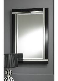 chic ideas black wall mirrors best interior modern art deco strip beveled glass mirror totalmirrors thumbnail