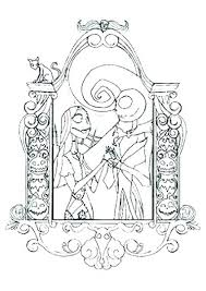 Nightmare Before Christmas Jack And Sally Coloring Pages Adult Kids