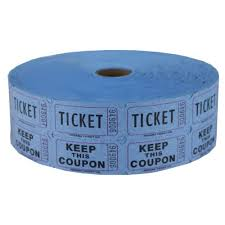 double raffle ticket roll blue double raffle ticket roll