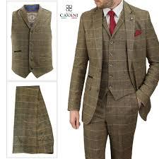 Cheap Mens Designer Suits Details About Mens Designer Cavani Albert Brown Tweed Tailored Suit 3 Piece Sold Separately