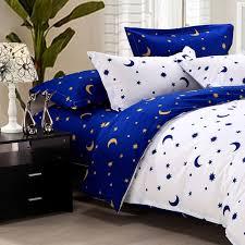 4pcs suit star moon cotton reactive printed bedding sets alex nld
