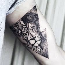 60 Geometrických Tetování Tetování Lvů Pro Muže Mužské Nápady