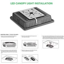 Canopy Light Set 1000led 4 Pack Led Canopy Light 65w Ceiling Lights Fixtures Carport Light 8000lm Daylight 5000k 250w Hid Hps Replacement Waterproof Ip65 Gas