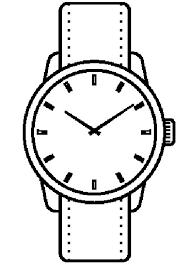 Disegno Di Orologio Con Lancette Da Stampare Gratis E Colorare