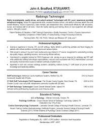 Tech Resume Examples Magnificent Radiologic Technologist Resume Noxdefense