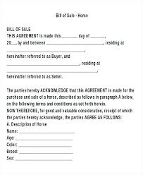 Bill Of Sale For A Horse Sample Artist Bill Of Sale Form Agreement Vehicle Purchase Versus In