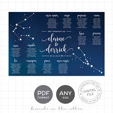 Constellation Wedding Seating Chart