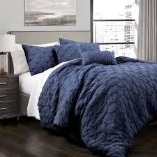 lush navy ravello pintuck comforter set