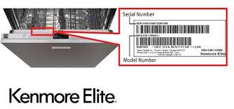 kenmore elite logo. kenmore elite dishwasher model and serial number location logo i