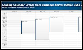Office Chart Web Component Tutorial Loading Calendar Appointments From Exchange Server
