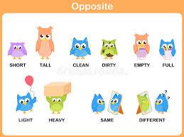 Opposite Word For Preschool Stock Vector - Illustration of clean ...