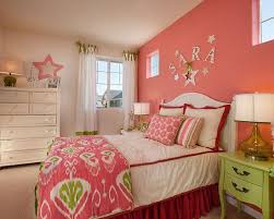 ... Charming Teenage Girlu0027s Bedroom Contemporary Bedroom Hot Pink Accent  Wall With White Also 10 Facts About ...