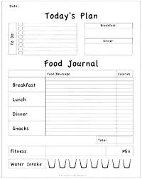 Food Journal Template Free Gorgeous Optimal Food And Activity Journal Template Statuco