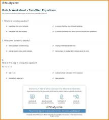 exciting 9 what is a two step equation a resumed quiz worksheet equa 12 step worksheets
