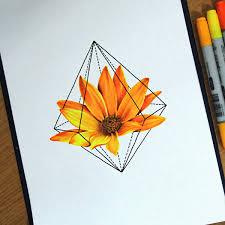 20 карточек в коллекции цветные татуировки эскизы цветы