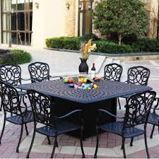 patio tables only outdoor outside lawn large square dining table and chairs small round metal full size sets for wooden room kitchen seater extendable white