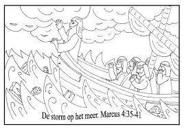 Kleurplaat Storm Op Zee Kleurplaten Categorie Jezus Www